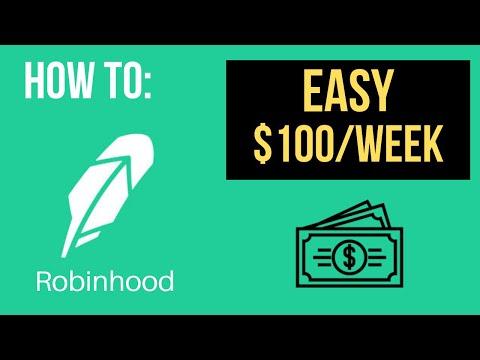 How To Make $100/WEEK Trading Options On Robinhood 2019