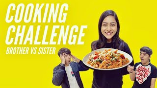 COOKING CHALLENGE WITH BROTHER & SISTER | Rimorav Vlogs