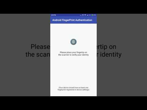 Android How to add Fingerprint Authentication | Biometric