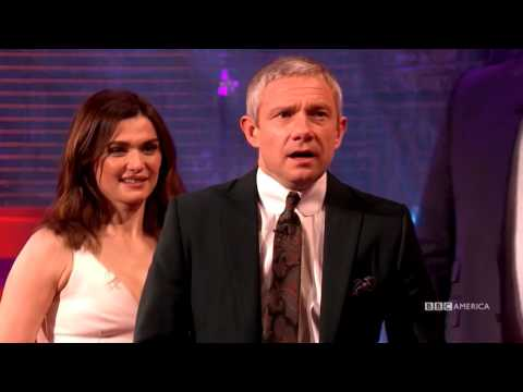 Martin Freeman and Rachel Weisz Practice Punching   The Graham Norton