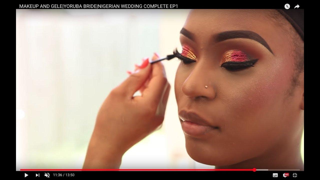 Makeup And Gele Transformation Power Of Makeup Nigerian Wedding