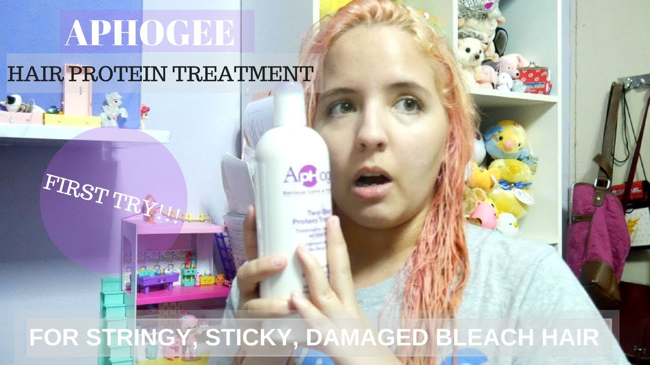 aphogee hair protein treatment for stringy sticky dry damaged