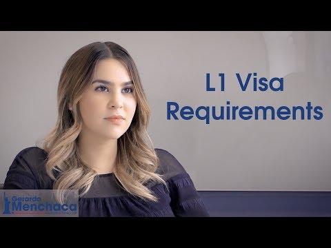 L1 Visa Requirements, USA 2020