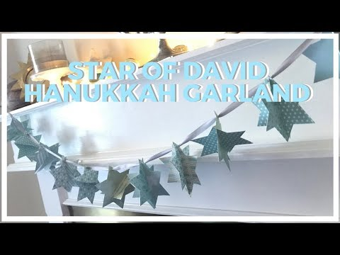 Star of David Paper Garland ♥ 8 DIYs of Hanukkah