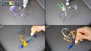 Dragon Ball(ドラゴンボール) Pancake art - Frieza, Kakarot, Cell, Kuririn