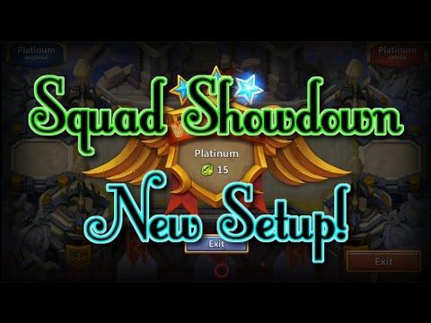 Castle Clash Squad Showdown New Setup! Best Setup?