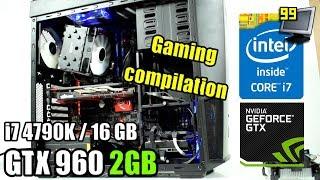 12 Games on GTX 960 2GB - i7 4790K (GTA5, WW2, WD2, Wolf2, BF1 & More)