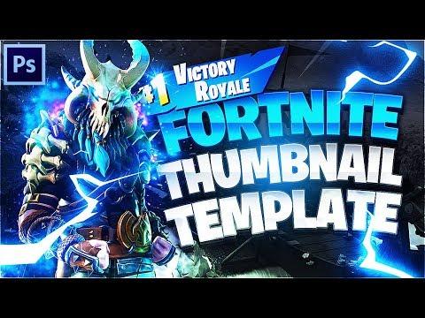 Fortnite YouTube Thumbnail Template *FREE* (Photoshop CC/CS6)