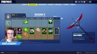 FORTNITE SEASON 4! FULL BATTLE PASS REVIEW!! IceFlyer391