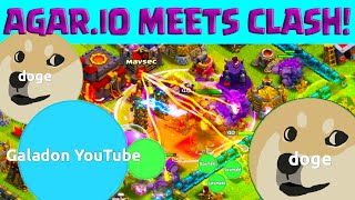 Clash of Clans Meets AGAR.IO! ♦ Clash of Clans Attacks AND BIGGEST!