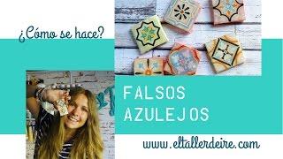 Cómo hacer falsos azulejos para crear mosaicos / Fake tiles to make mosaics