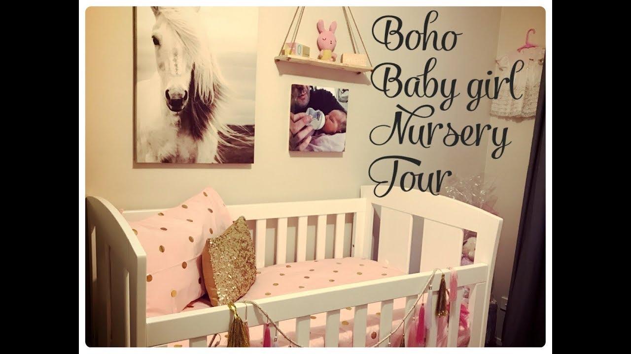 BOHO INSPIRED BABY GIRL NURSERY MAKEOVER - YouTube