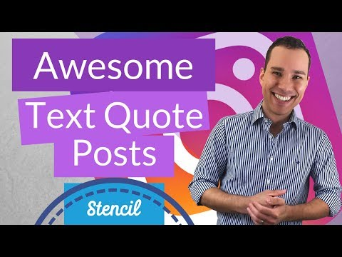 How To Create Fun Text Quotes For Instagram: Stencil Design Guide To Make Instagram Quote Posts Fast