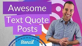 Wie Erstellen Sie Lustige Text-Zitate Für Instagram: Stencil Design Guide, Um Instagram Zitieren Beiträge Schnell