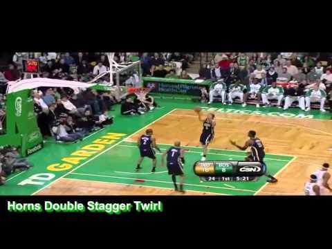 2009-10 Boston Celtics Horns Double Stagger Twirl