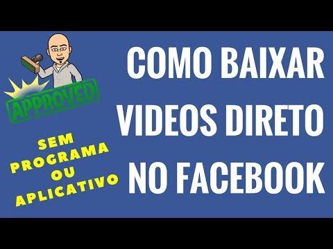 Como baixar vídeo direto no Facebook Sem Programa