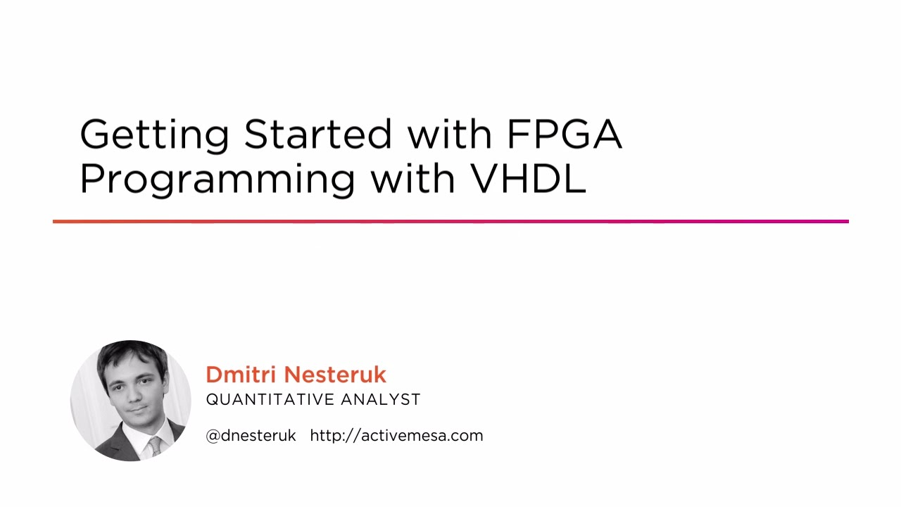 Getting Started with FPGA Programming with VHDL | Pluralsight