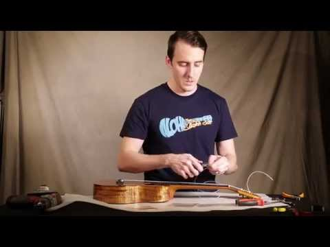 Ukulele Restringing Tutorial   4 Bridges & 2 Headstocks
