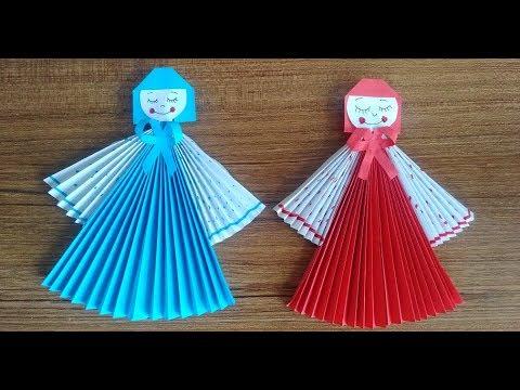 kagittan kolay bebek yapimi cocuklar icin kolay el becerileri how to make a paper dolly