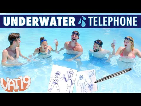 UNDERWATER Telephone Challenge with the Space Pen