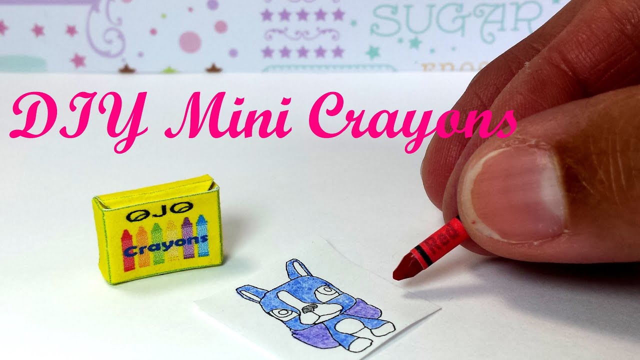 DIY Miniature Working Crayons Made From Real Crayons