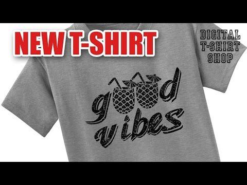 Digital T-Shirt Shop - good vibes t-shirt - pinrapple drink t-shirt