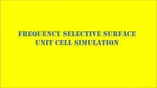 Frequency Selectivs surface