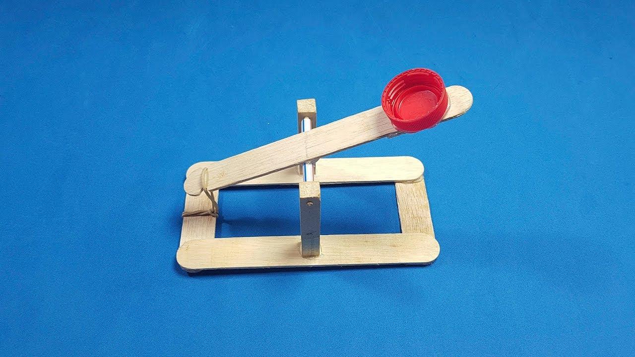 How To Make A Mini Catapult Homemade Very Easy To Do Sagaz Perenne