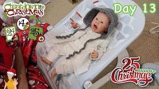 Reborn Countdown to Christmas! Changing Baby Landon - Day 13 | Kelli Maple
