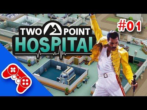 two point hospital - gameplay ita #01 : in corsia con Freddie Mercury
