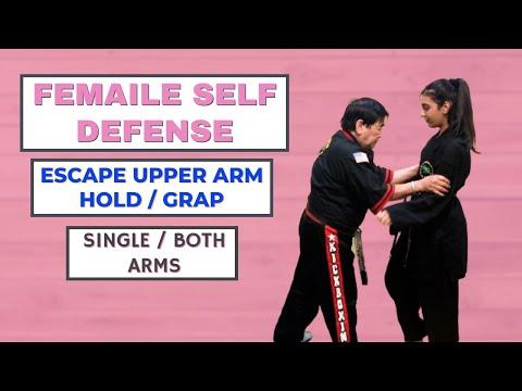 Defense Against Upper Arm Grab- Female Self Defense Session 4