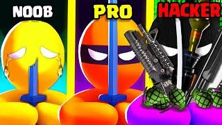 NOOB vs PRO vs HACKER in Stealth Master