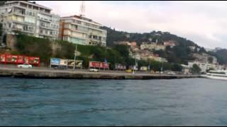 Самое узкое место Босфора. Престижный район Стамбула - Бебек. Турция.