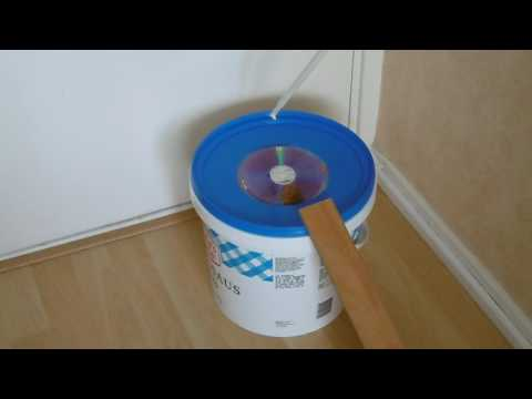 diervriendelijk muizen val vang emmer met cd vlinder klep