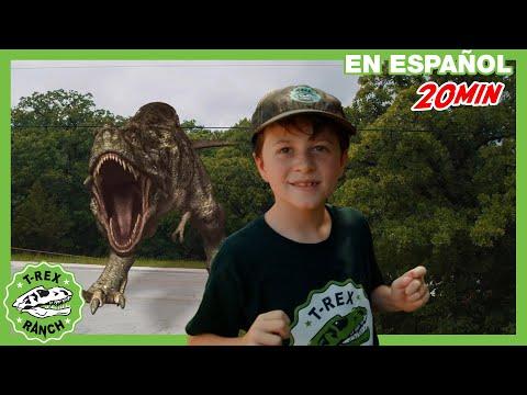 Parque De T-Rex | Caza De Juguetes Sorpresa Con Dinosaurio Gigante Y Pelea De Agua