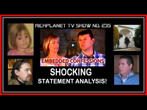 'LIES' and 'CONFESSION' Statement Analysis in McCann Australia Interview. FULL VERSION