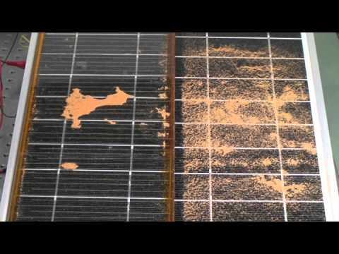 Electrostatic Cleaner Of Dust On Solar Panels Youtube