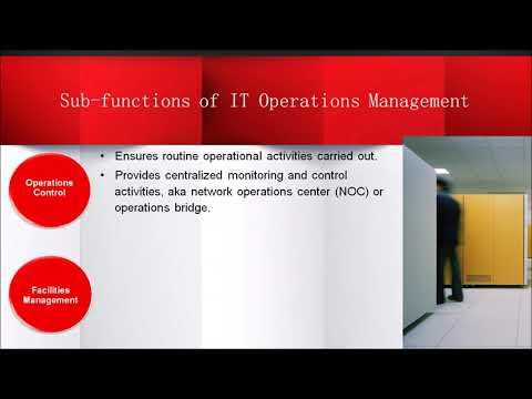 ITIL Service Operation Function - IT Operations Management (2018)
