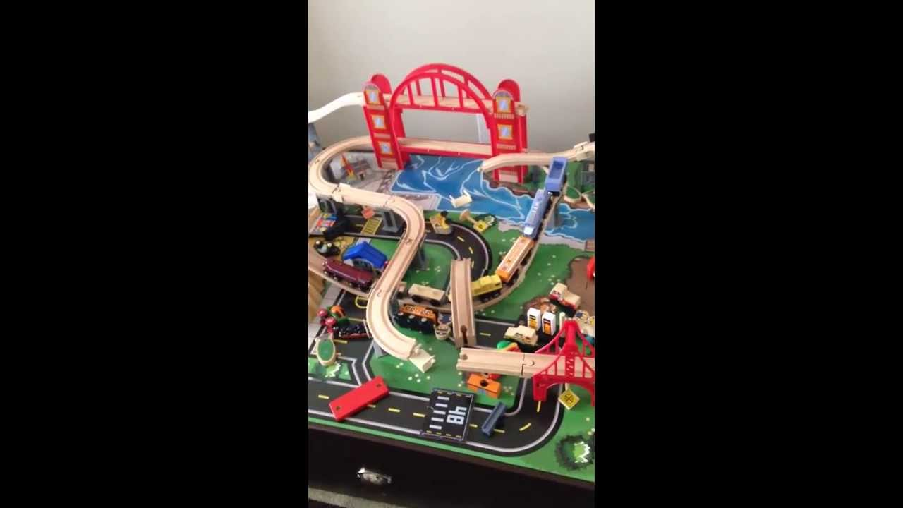 Kidkraft Metropolis Train Table Review - YouTube
