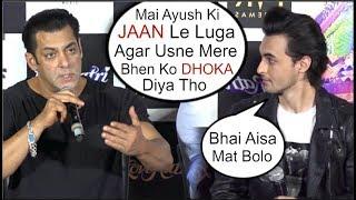 Salman Khan WARNING To Ayush Sharma If CHEATS Arpita Khan After Becoming Star At Loveratri Trailer
