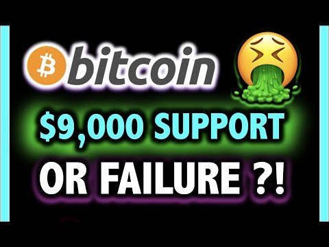 URGENT!! BITCOIN FAIL OR SUPPORT AT $9,000?!💥 Crypto Analysis TA & BTC Cryptocurrency Price News Now