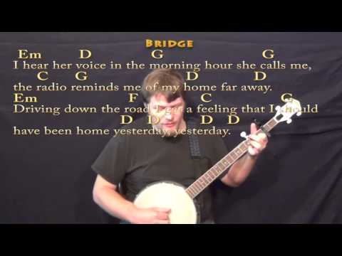 Country Roads - Banjo Cover Lesson with Lyrics/Chords