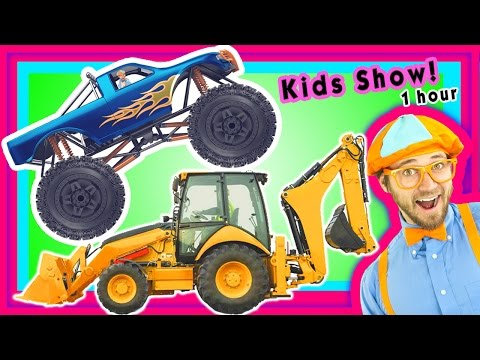 Thumbnail: Construction Vehicles Compilation | Machines for Kids | Toddler Show – Blippi