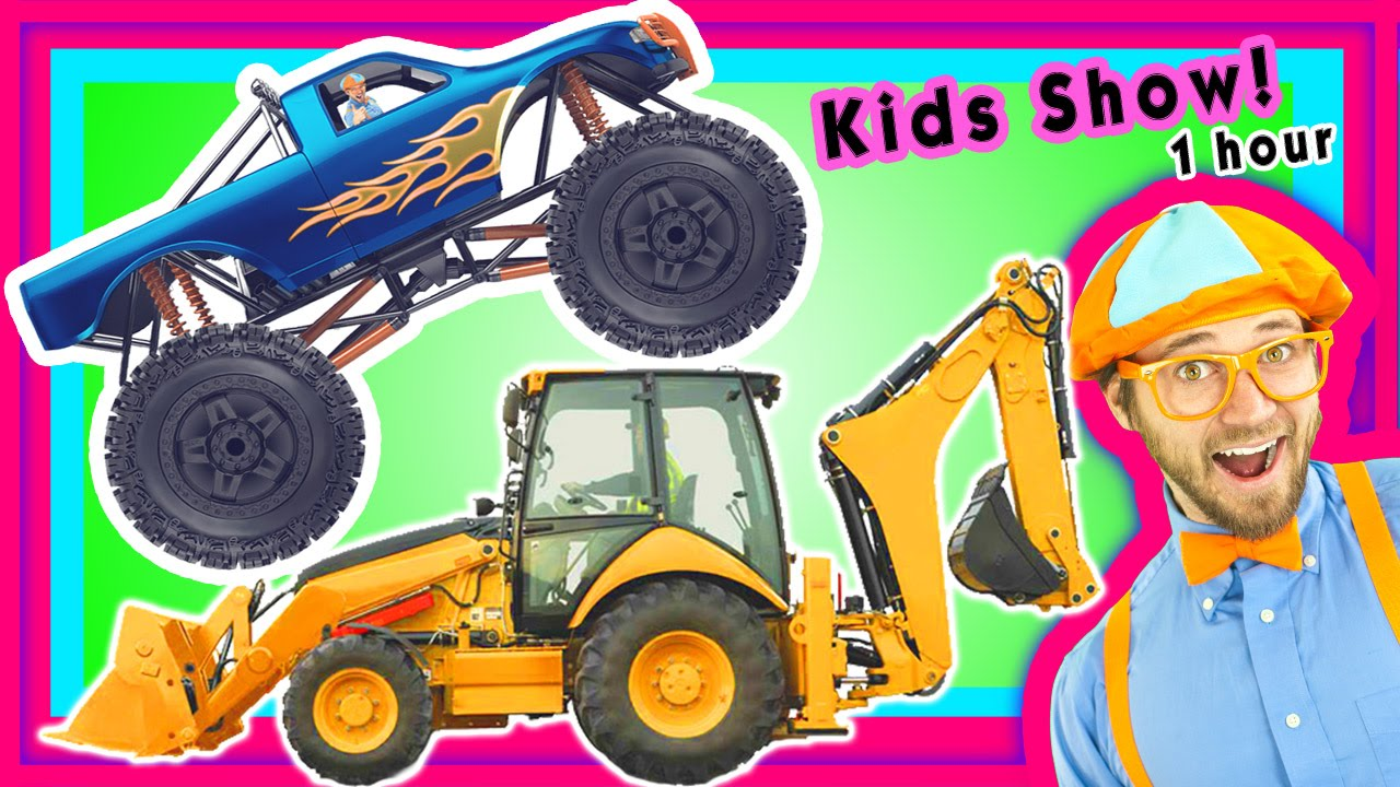 Coloring pages of construction vehicles - Construction Vehicles Compilation Machines For Kids Toddler Show