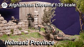 1/35 Afghanistan Diorama (Full build with realistic scenery)  - Hell in Helmand