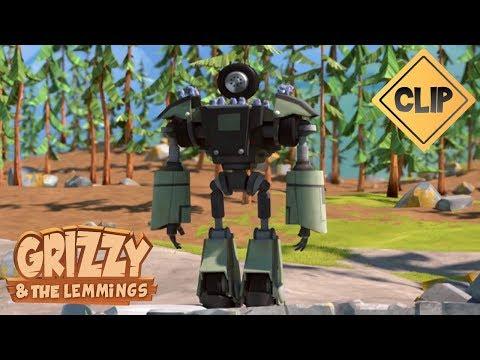 Un robot samuse avec les Lemmings ! - Grizzy & les Lemmings