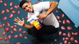 NERF Balloon Minefield Challenge!