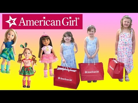 FUN Shopping For American Girl Dolls At American Girl Store | NEW Wellie Wishers Dolls