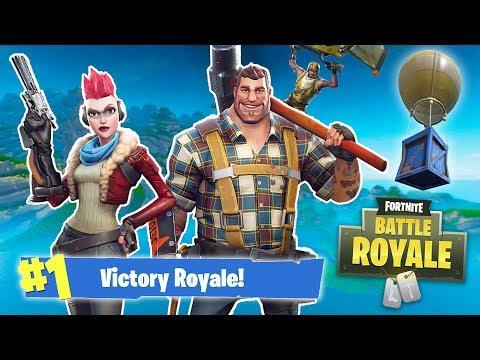 FORTNITE BATTLE ROYALE w/ MY GIRLFRIEND! (Fortnite Battle Royale) thumbnail