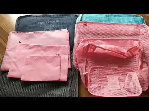 Bộ túi du lịch combo 6 món để vali sắp xếp quần áo, phụ kiện gọn gàng ngăn nắp
